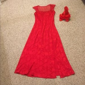 Vintage Victoria's Secret red long nightgown